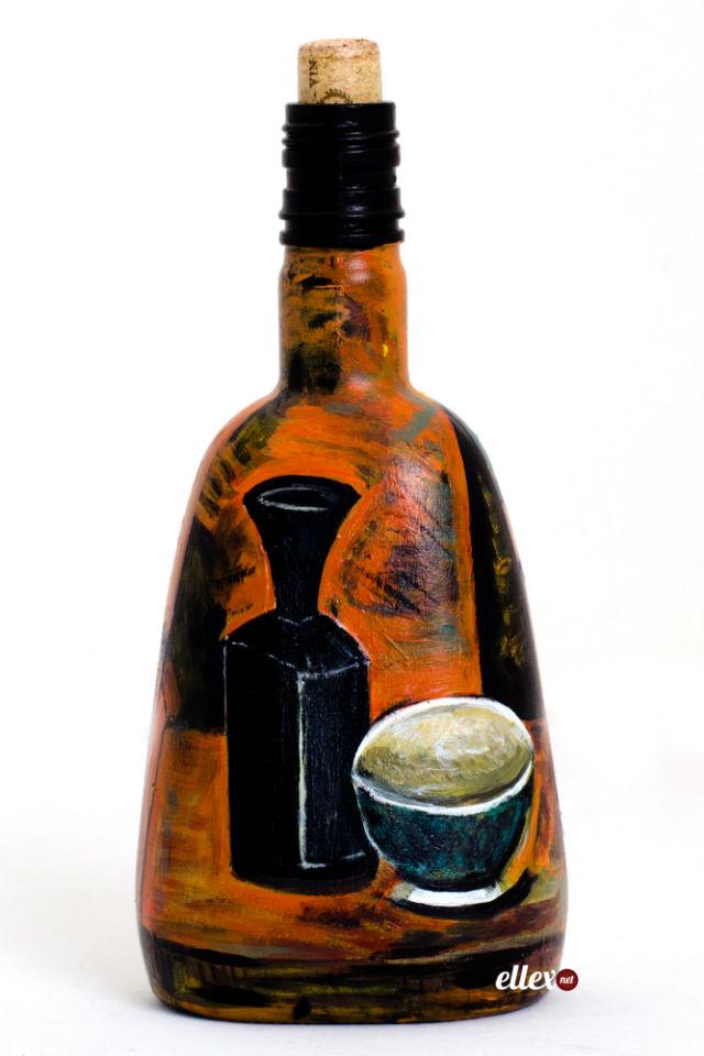 Роспись и декорирование бутылок красками